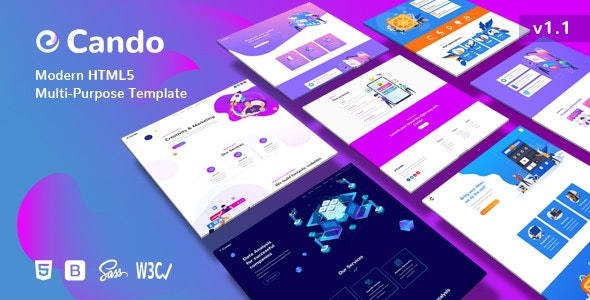 Cando - Creative Multi-Purpose HTML Template