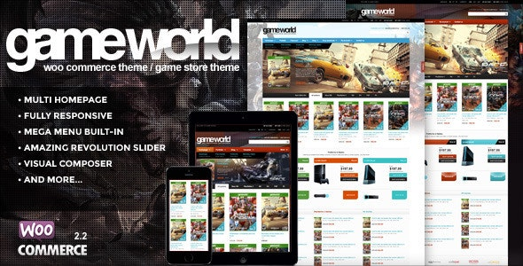GameWorld - WooCommerce Game Theme