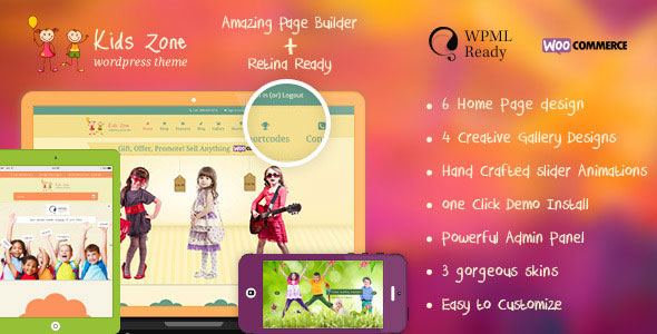 Kids Zone - Responsive Children Theme