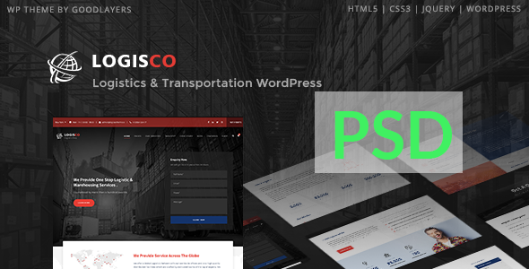 Logisco - Logistics & Transportation PSD