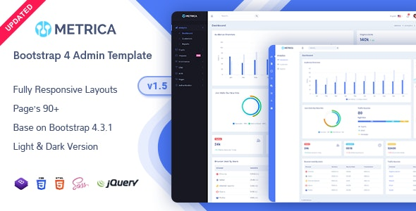 Metrica - Admin & Dashboard Template