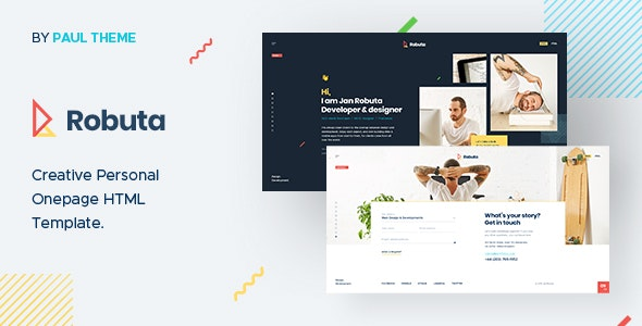 Robuta - Personal Onepage PSD Template