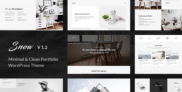 Snow - Minimal & Clean WordPress Portfolio Theme