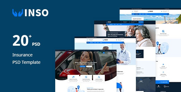 Vinso - Insurance PSD Template