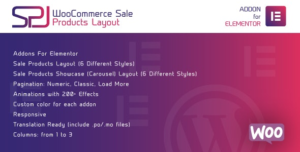 WooCommerce Sale Products Layout for Elementor - WordPress Plugin