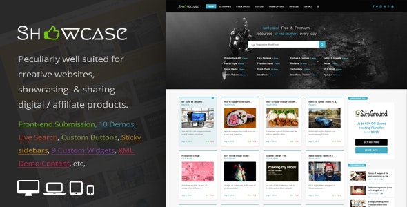 Showcase - Responsive WordPress Grid : Masonry Blog Theme